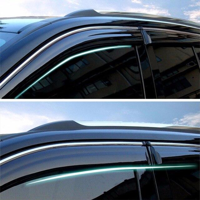 Tonos ventana Viseras Lluvia Guardias Vent Shade Visera Para Jeep Compass 2011-2016 2011 2012 2013 2014 2015 2016 [QPA350]