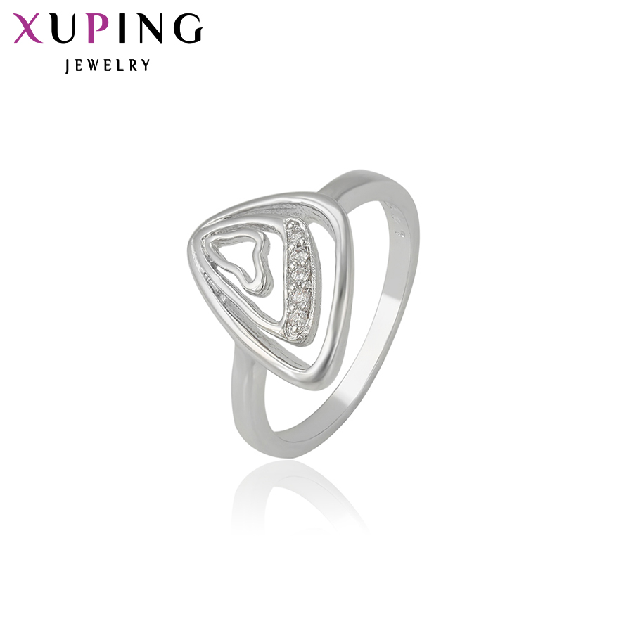 11.11 Xuping Fashion Ring New Design for Women Love With Stones Engagement Ring Synthetic CZ Plated Jewelry Christmas Gift 13246