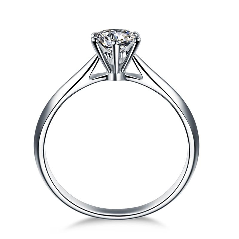 ZOCAI Abad Klasik Nyata 0.18 CT D-E / SI Berlian Engagement Wanita - Perhiasan bagus - Foto 2