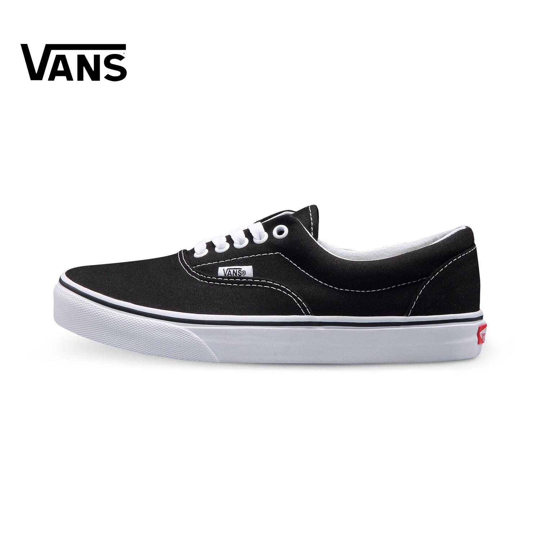 Original New Arrival Vans Mens & Womens Classic Low-top Skateboarding Shoes Sneakers Canvas Comfortable Era VN-0EWZBLK