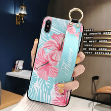 Flower Case with Wrist Band for Samsung S8 S8 plus S9 plus NOTE 8 9 S10 plus 3D Printed Case for Samsung S10 S8+ S9+ Girl Cover цена и фото