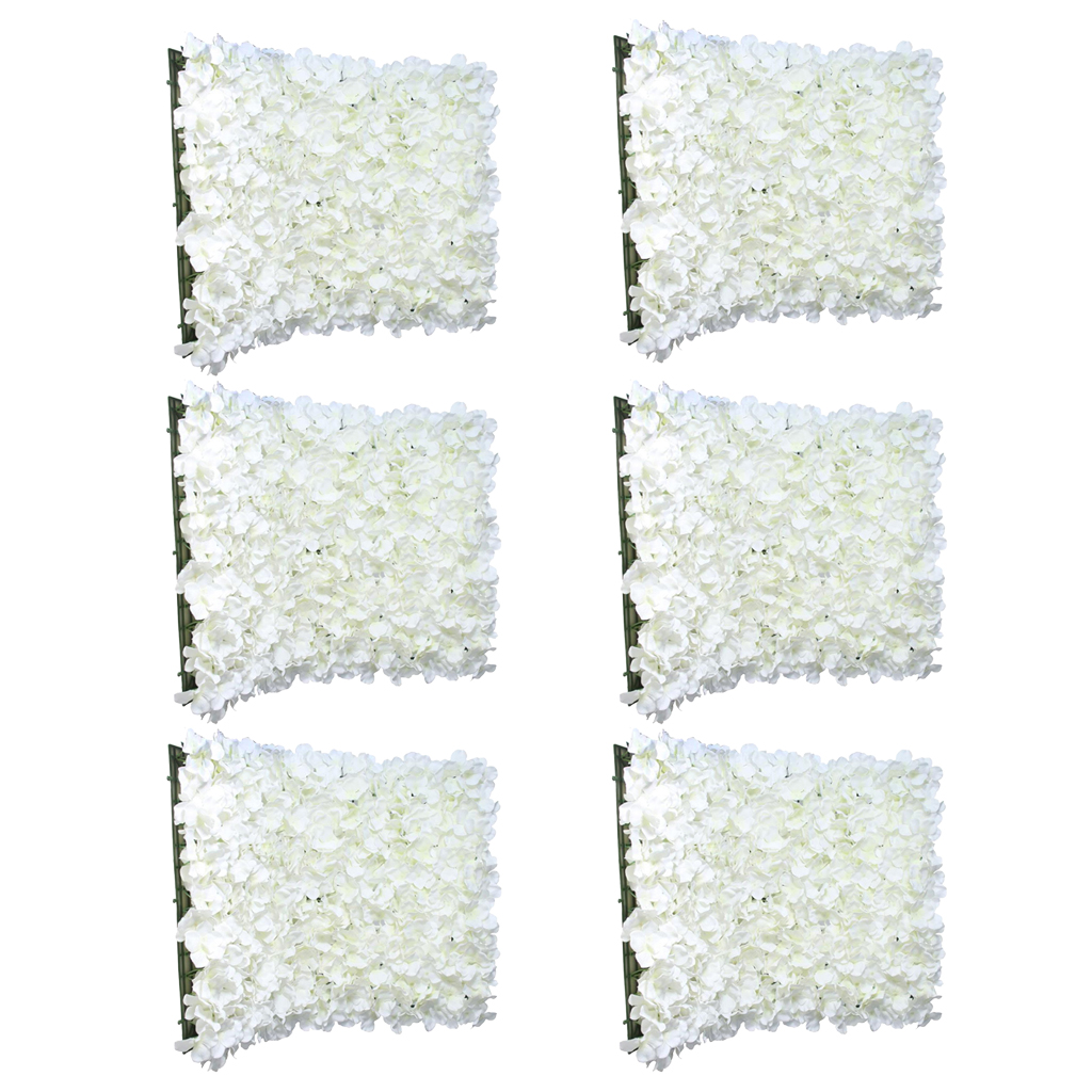 6 pièces Haut De Gamme Fleurs Artificielles Mur Panneaux Maison D'étape De Mariage Décor Floral Crème-in Partie BRICOLAGE Décorations from Maison & Animalerie    1