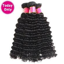 TODAY ONLY Brazilian Deep Wave Bundles 100 Human Hair Weave Bundles Natural Black Color Non