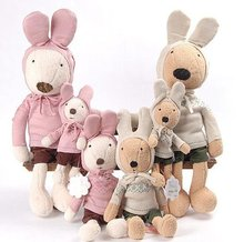 le sucre sugar Rabbit SG311 design,super cute,45cm,White/ brown,Birthday,valentine's day gift,Free-factroy wholesale