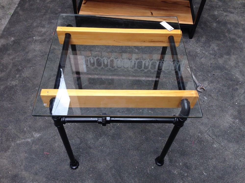 Custom Wrought Iron Glass Coffee Table Minimalist Modern Creative Art Style  Cafe Tables Pipes Type In Coffee Tables From Furniture On Aliexpress.com ...