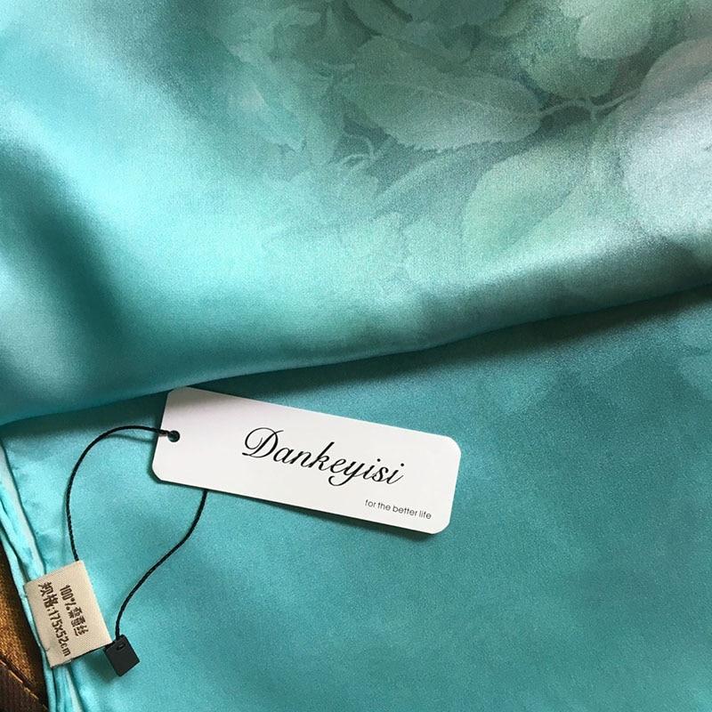 DANKEYISI 100% Mulberry Lange Sjaal Vrouwen Zijden Sjaal Luxe Merk - Kledingaccessoires - Foto 6