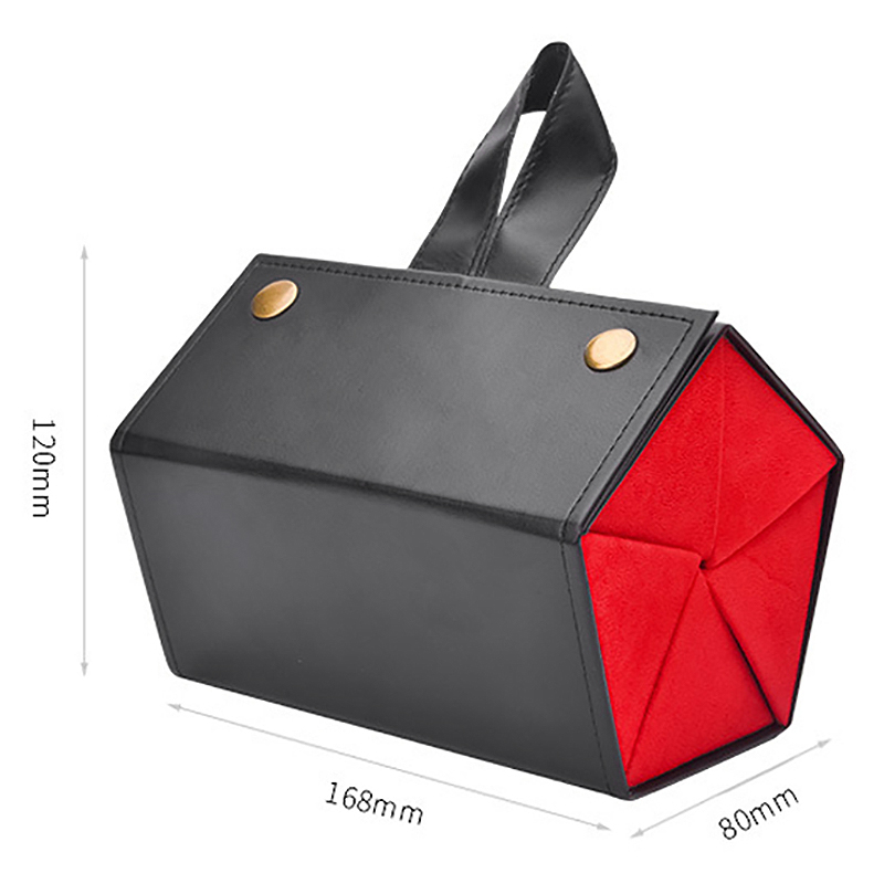 Image 3 - Women 5 Storage Space Sunglasses Tray Black Red Fashion Pu Leather Roll Eyeglasses Case Display Box-in Eyewear Accessories from Apparel Accessories