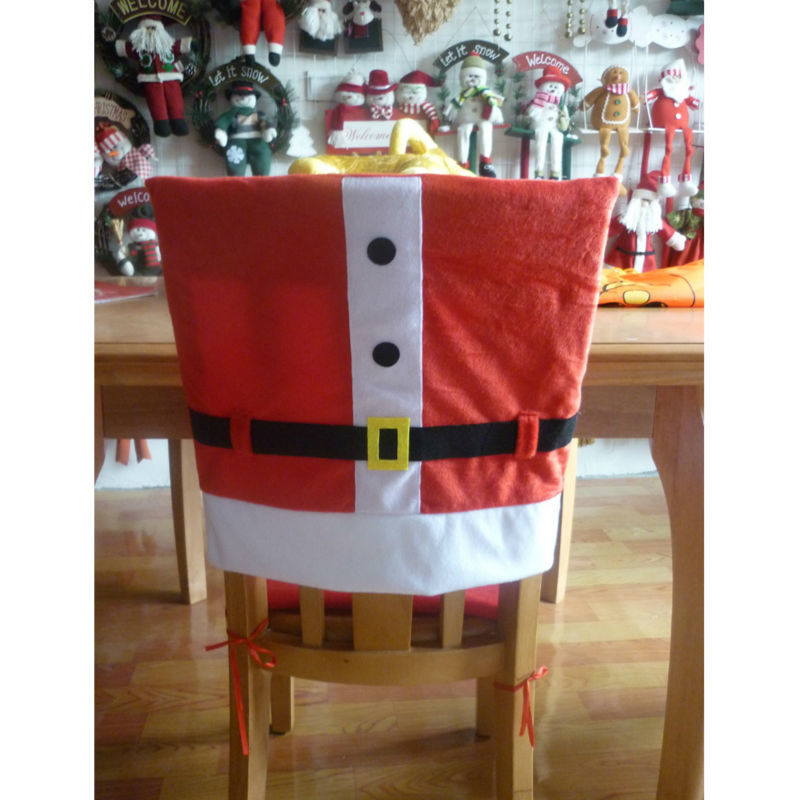 4pcs/lot High-end Christmas Decorations Chair Cover For Dining Room Restaurant Chair Decorative Cover Christmas Decoration