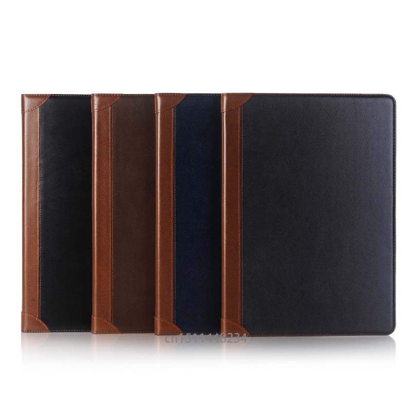 For Apple Ipad Pro 12.9 2017 smart Case Cover, luxury Leather Cases for ipad pro New 12.9 2017 Tablet Books case With wallet