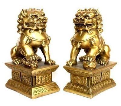 pair of tibet brass Native copper statue foo dogs/Lions Tibet Buddhist BRASS art Decoration 100% real Tibetan Silver Brass