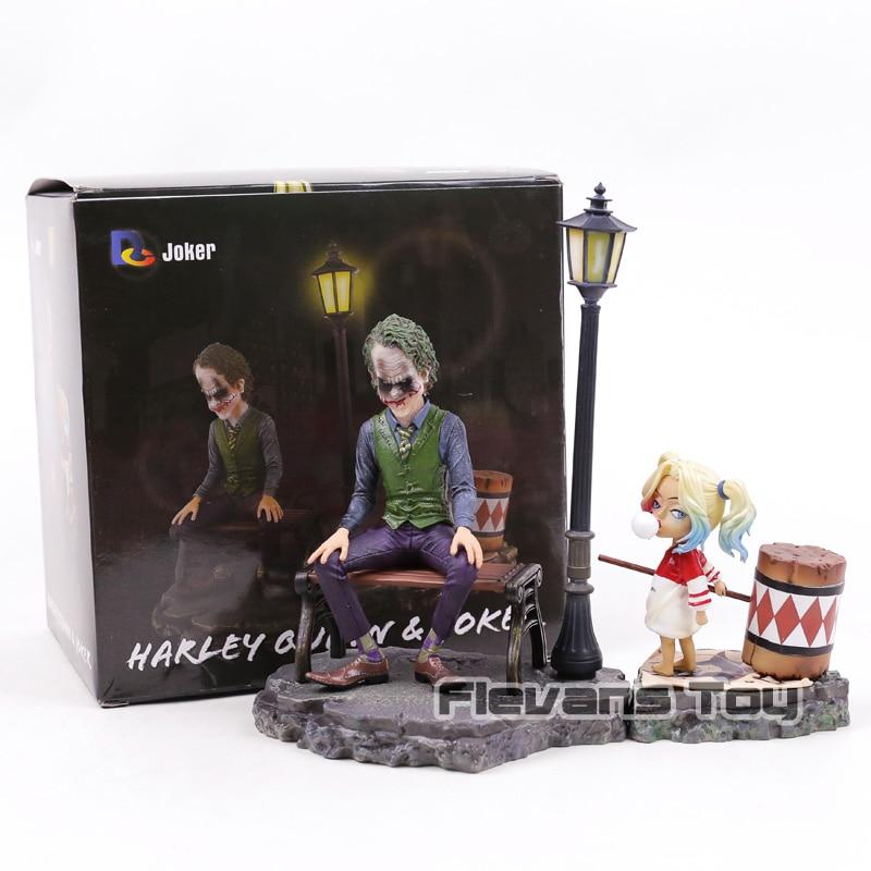 лучшая цена DC Comics Figurine Harley Quinn & Joker PVC Suicide Squad Joker Action Figures Decoration Figure Collection Model Toys Dolls