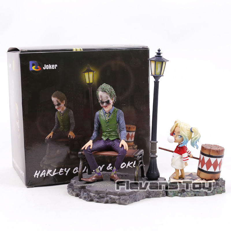 DC Comics Figurine Harley Quinn e Joker PVC Suicide Squad Joker Action Figure Decorazione Figure Collection Modello Giocattoli Bambole