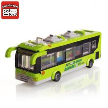 Enlighten 418pcs City Bus Station Building Blocks Puzzle Educational Bricks Action & Toy Figures Kids Toys  цена в Москве и Питере