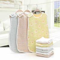 Bebé de algodón Natural dormir bolsa de saco de bebé muselina gasa anti-pateando edredón 6 capas bebé sacos de dormir para bebés