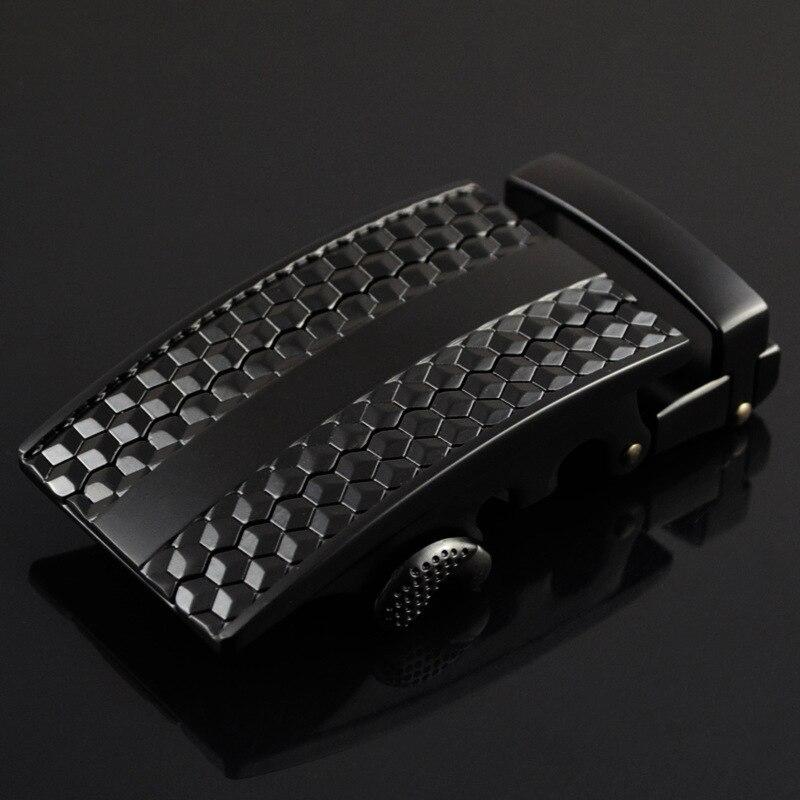 3.5cm Luxury Automatic Buckle Heads Designer Belts Buckle High Quality Ceinture Homme Marque Kemer Cinto Black CE25-0383