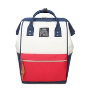 Anello Ring Backpack Canvas School Printing Ring Bag Supreme Backpack Women S Vintage Brand Male Women