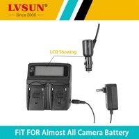LVSUN Double Use DC & Car Universal Camera Battery Charger For Nikon ENEL10 For Olympus Li 40B Li 40B 42B Battery Recharger