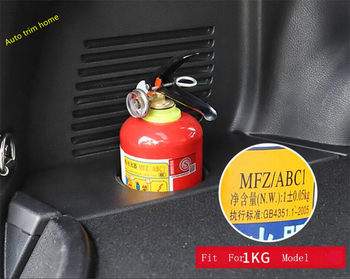 Lapetus Rear Trunk Fire Extinguisher Cup Holder Supporter Cover Fit For Toyota RAV4 Rav 4 2014 2015 2016 2017 2018 image