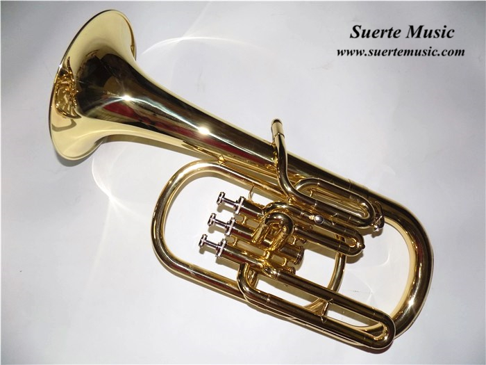 Eb Alto Horn 3 pistons Brass Body Lacquer Surface with ABS case and mouthpiece professional Musical instrument for Sale