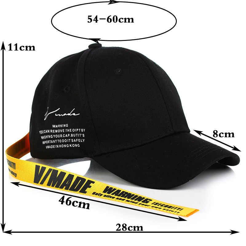 طويل الشريط الأسود الكبار للجنسين عارضة قبعات البيسبول الأزياء قبعات ترد لمكانها للرجال النساء السود الرياضة gorras VIMADE رسائل