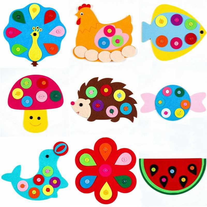 Game Pig Frog Montessori Twisted Button Cognition Fish Puzzle Educational Toys  Animal Puzzles Non-Woven  Zipper  Birthday  Gift