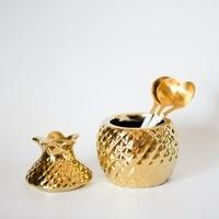 Europe Style Ceramic Pineapple Storage Box Creative Jewelry Box Sugar Bowl Tea Bag Storage Box Canister