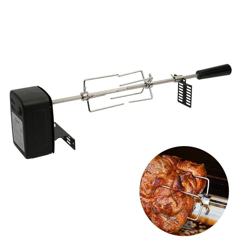Automatic BBQ Grill Rotisserie Electric BBQ Motor Metal Outdoor Spit Roaster Rod Charcoal Pig Chicken Beef Camping Cooking ToolsAutomatic BBQ Grill Rotisserie Electric BBQ Motor Metal Outdoor Spit Roaster Rod Charcoal Pig Chicken Beef Camping Cooking Tools