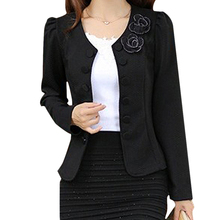 Spring summer style slim female coat short woman clothes jackets suits Outwear coat women black 5XL