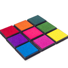 Variety of optional 4cm Ink Pad Scrapbooking Colorful Inkpad Stamp Sealing Decoration Fingerprint Stencil Card Making DIY Crafts homemade diy gradient color ink pad multicolour inkpad stamp decoration fingerprint scrapbooking accessories