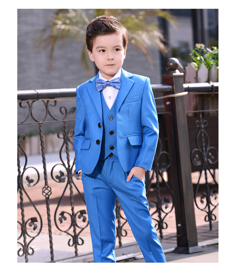 2f93132a Bridalaffair Jacket with Pants 2 Pieces Set Boys Suits for Weddings Kids  Prom Suit Red Wedding Suits for Boys Children Clothing