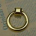 45mm anel gota de instável móveis knob gaveta pull lida com ouro brilhante ouro armário puxa handle