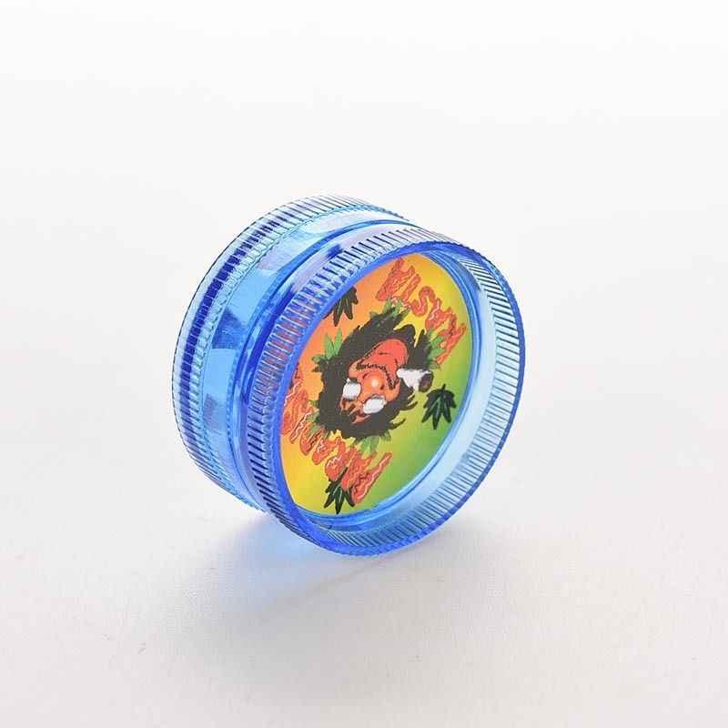 3 שכבות מיני פלסטיק הרב מטחנות עבור עשן טבק אבקת יד שחיקה עישון צנרת אקראי צבע