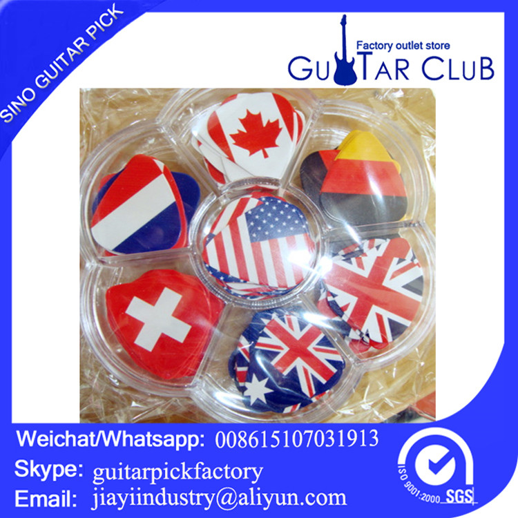 Free shipping Personalised plectrums color printing nation of flag guitar picks guitar pick
