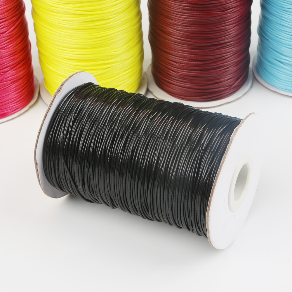 Waxed Cotton Cord Thread String Strap Necklace Rope For Jewelry Findings Making
