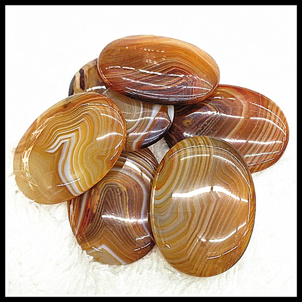 5pcs nature brown lacee agatee stone cabochons natural stone CABS size 30x40mm new arrived with best wholesale price for your