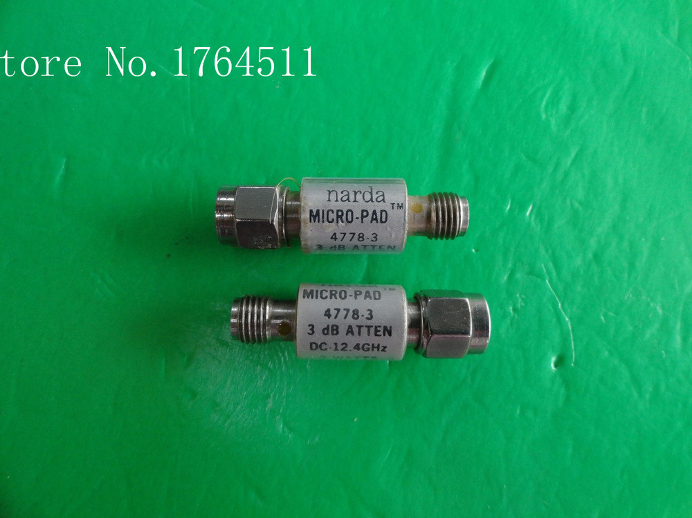 [BELLA] NARDA 4778-3 DC-12.4GHz 3dB 2W SMA Coaxial Fixed Attenuator  --2PCS/LOT