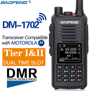Image 2 - Baofeng DMR DM 1702 (GPS)  Walkie Talkie VHF UHF Dual Band 136 174 & 400 470MHz Dual Time Slot Tier 1&2 Digital/Analog CB Radio