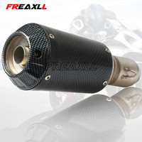Universal 36 51mm Modified Motorcycle Exhaust Pipe Muffler For Yamaha FJR1300 for BMW 125 FZ07 09 FZ1 FZ8 FZ6R MT09 MT07