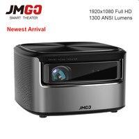 JmGO N7 Full HD 1080p проектор, ОС Android, 1300 ANSI люмен, 1920*1080 Bluetooth 2 г/16 г Поддержка видео 4k Wi Fi 3D проектор