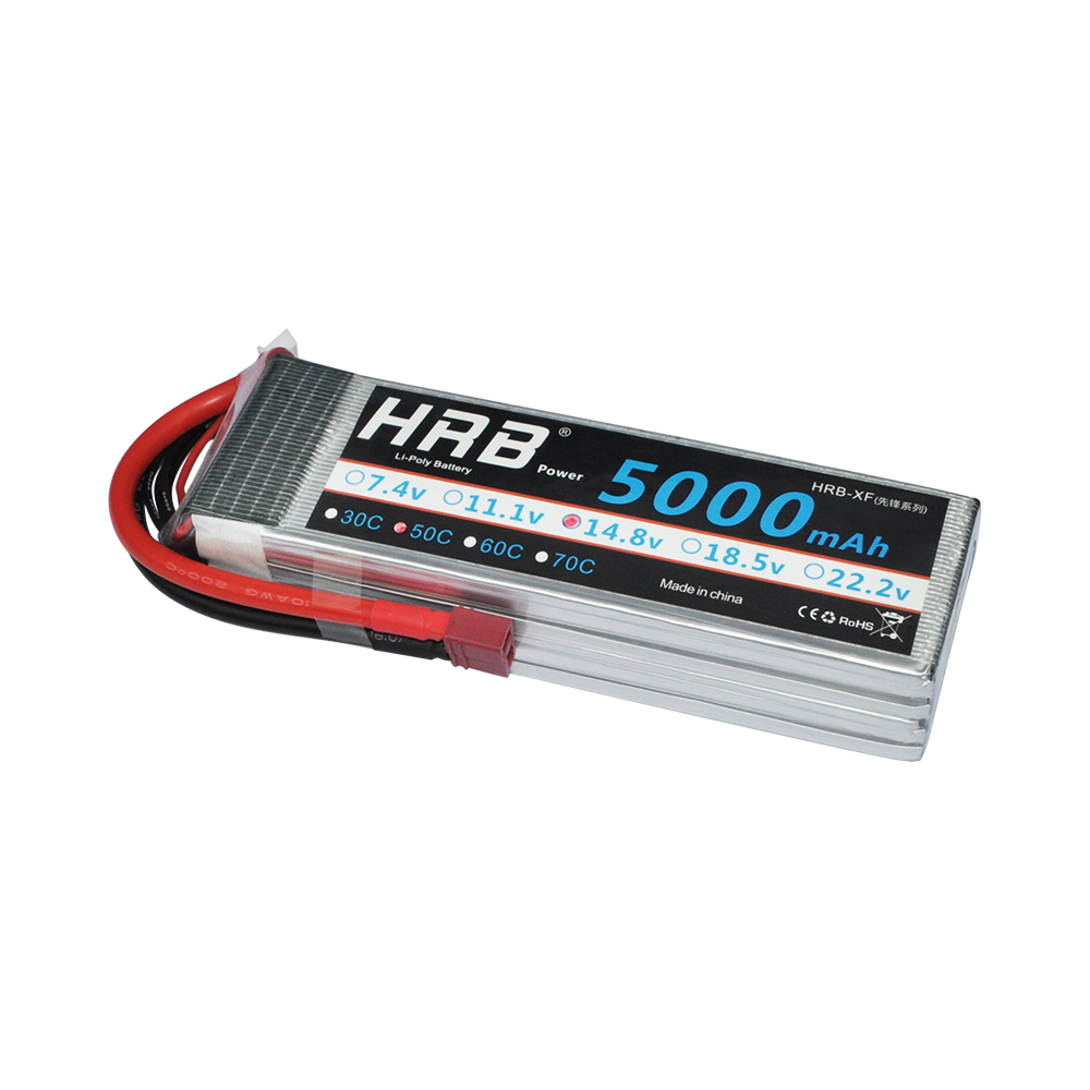 HRB 4S RC lipo battery 14.8v 5000mah 50c for RC Model Trex 500 helicopter quadcopter with XT60 Plug/Tplug/EC5 plug acehe 15 2v 1600mah 2500mah 5200mah 6600mah 50c 4s1p 24 32wh xt60 plug high voltage lipo battery