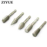 Free Shipping 5 Sets Of Hard High Speed Steel Rotary Rasp Rotary Engraving Knife Rotating Grinding