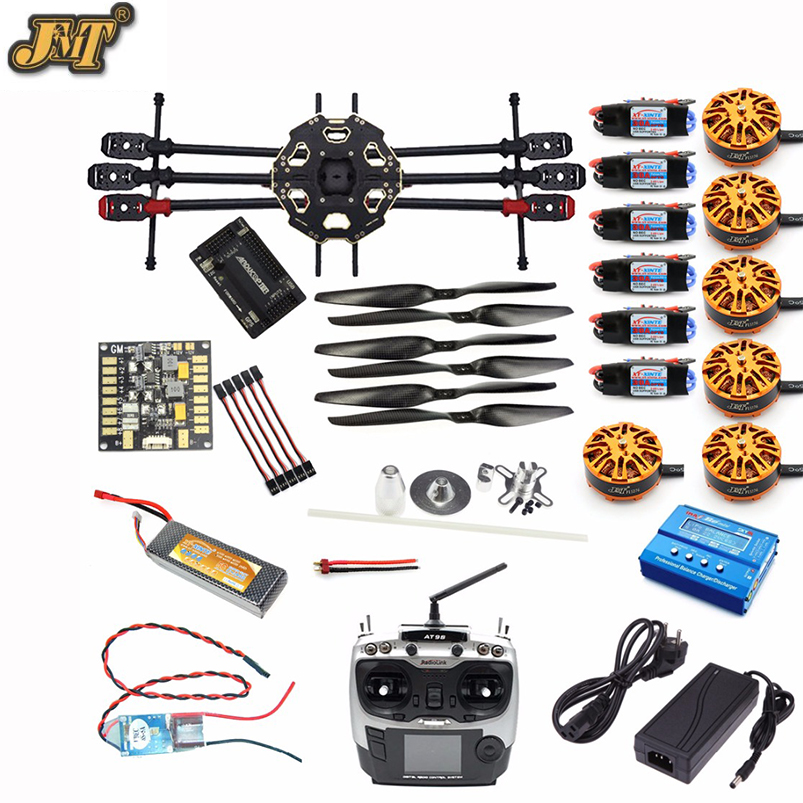 JMT DIY 6-axis Aircraft Kit Full Set Helicopter Drone Tarot 680PRO Frame 700KV Motor GPS APM 2.8 Flight Control AT9S Transmitter drone upgraded apm2 6 mini apm pro flight controller neo 7n 7n gps power module
