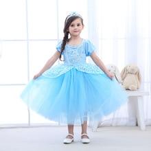 купить christmas New Year Children Party Dresses For Girls Elsa Dress Princess Cinderella Cosplay Costume Baby Kids Clothing дешево