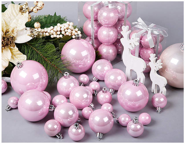Us 10 8 3 10 Cm Pink Rose Gold Pearl Christmas Ball For Christmas Decoration And Christmas Tree Ornaments In Ball Ornaments From Home Garden On