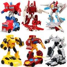 2017 Anime Transformasi 4 Mobil Robot Mainan PVC Aksi Angka Mainan Model Boy Mainan Brinquedos Hadiah Natal juguetes CM