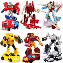2017 Anime Transformation 4 Cars Robots Toys PVC Action Figures Toys Brinquedos Model Boy Toy Christmas