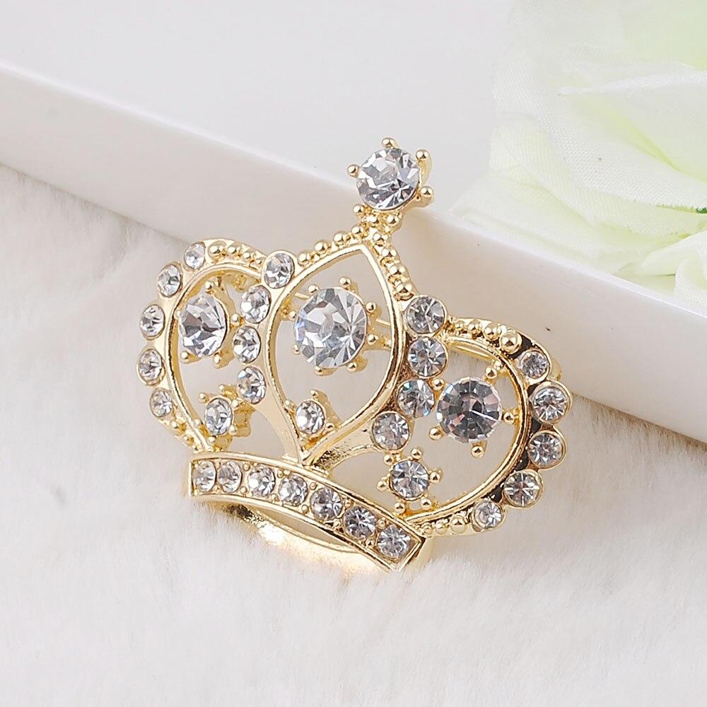 Weibliche Kronenbrosche Simulierte kristallweiße - Modeschmuck - Foto 5