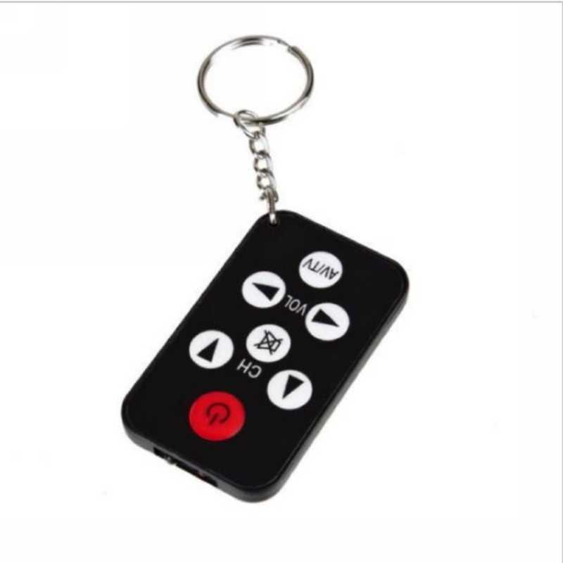 Mini porte-clés de poche avec batterie ensemble de TV infrarouge universel IR télécommande porte-clés 7 clés pour Philips noir facile à transporter