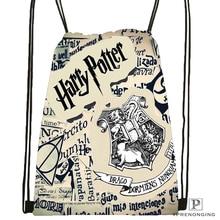 Custom Hogwarts Harry Potter Drawstring Backpack Bag Cute Daypack Kids Satchel (Black Back) 31x40cm#180531-03-21