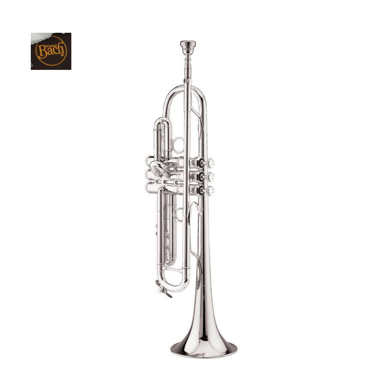 Vincent Bach Trumpet LT 180S-37 Trumpet Instruments S Silvering Brass Instruments Bb Trumpet with Mouthpiece Gloves FreeShipping good quality professional palm pocket trumpet tone flat b bb brass wind instrument with mouthpiece gloves cloth brush